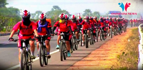 155 'Kung-Fu Nuns' Cycle Their Way To Odisha From Nepal For Women Empowerment