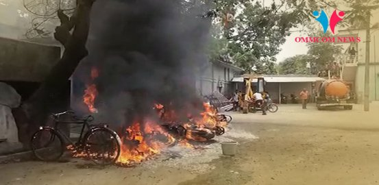 Around 10 Bikes Gutted As Godown In Municipality Office Goes Up In Flames