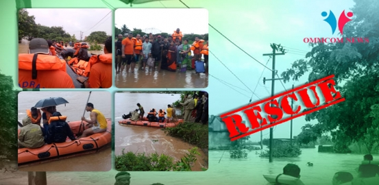 People Stranded In Flood Water: ODRAF, Fire Service Personnel Begin Rescue Operations