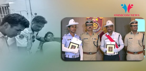 Commissionerate Police Serves Motto 'We Care', Good Samaritan Cops Felicitated