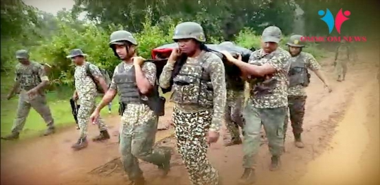 BSF Jawans Carry Pregnant Woman To Hospital In Malkangiri