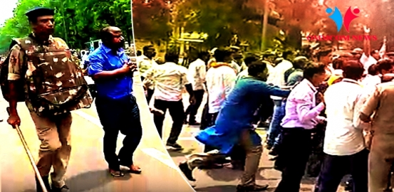 Lathicharge On Panchayat Samiti Members While Trying To Gherao Assembly