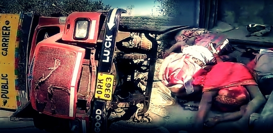 Truck Overturns, 6 Labourers Trampled To Death