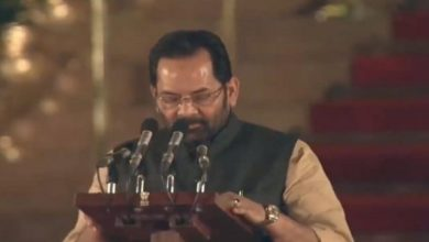 Photo of Naqvi, A BJP Muslim Face, Is Union Minister Again