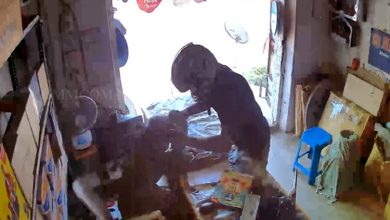 Photo of Watch: CCTV Captures Robber Snatching Chain While Posing As Customer