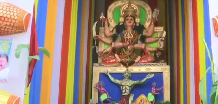 31-Feet Durga Idol In Hyderabad