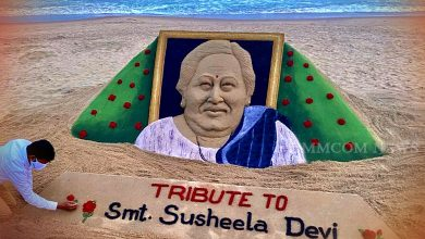 Photo of Noted Artist's Sandy Tribute To Odisha's First Lady