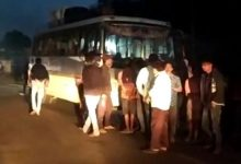 Photo of Miscreants Fire At Bus In Dhenkanal, Passengers Escape Unhurt