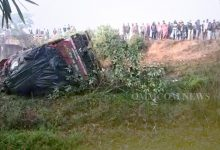Photo of Truck Runs Over Cyclist, Falls Off Bridge In Cuttack