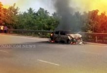 Photo of Watch: Odisha Car Catches Fire On NH-16, Gutted; Driver, Woman, Son Unhurt