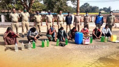 Photo of 180 Lts Country Liquor Seized In Bhuban, 8 Held
