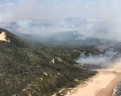 Emergency declared on Fraser Island as dozens flee