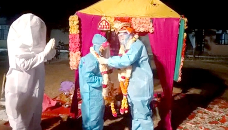 Rajasthan Couple Gets Married In PPE Kits At Covid Centre