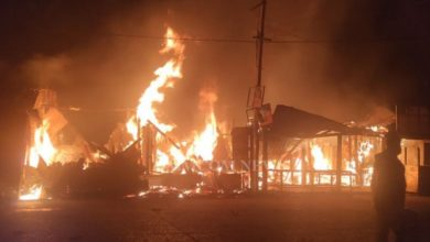 Photo of Fire Engulfs Four Shops In Balasore