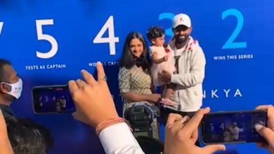 Photo of Rahane Receives Red Carpet Welcome On Reaching Mumbai Home