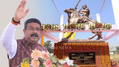 Photo of Veer Surendra Sai's Statue Unveiled at Jharsuguda Airport