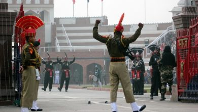 Photo of Low-Key Beating Retreat At Attari Border