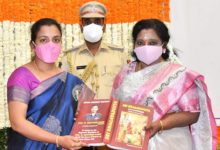 Photo of Telangana Governor Felicitates Col Santosh Babu's Wife
