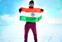 Photo of Odia Youth Unfurls National Flag On Himalayas' Dayara Bugyal