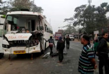 Photo of Narrow Escape For Passengers As Truck Hits Bus In Boudh